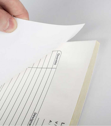 Bloc de papel reposicionable