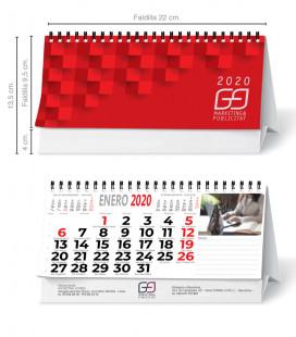 Calendario sobremesa espiral horizontal (7 hojas)
