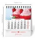 Calendario sobremesa espiral vertical (7 - 13 hojas)